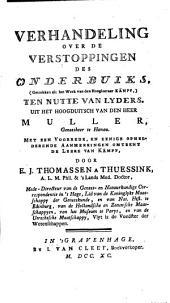 Verhandeling over de verstoppingen des onderbuiks (getrokken uit het werk van den hoogleeraar Kämpf): ten nutte van lyders, Volume 1