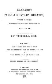 HANSARD'S PARLIAMENTARY DEBATES, THIRD SERIES: COMMENCING WITH THE ACCESION OF WILLIAM IV