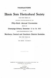 Transactions of the Illinois State Horticultural Society: Volume 45