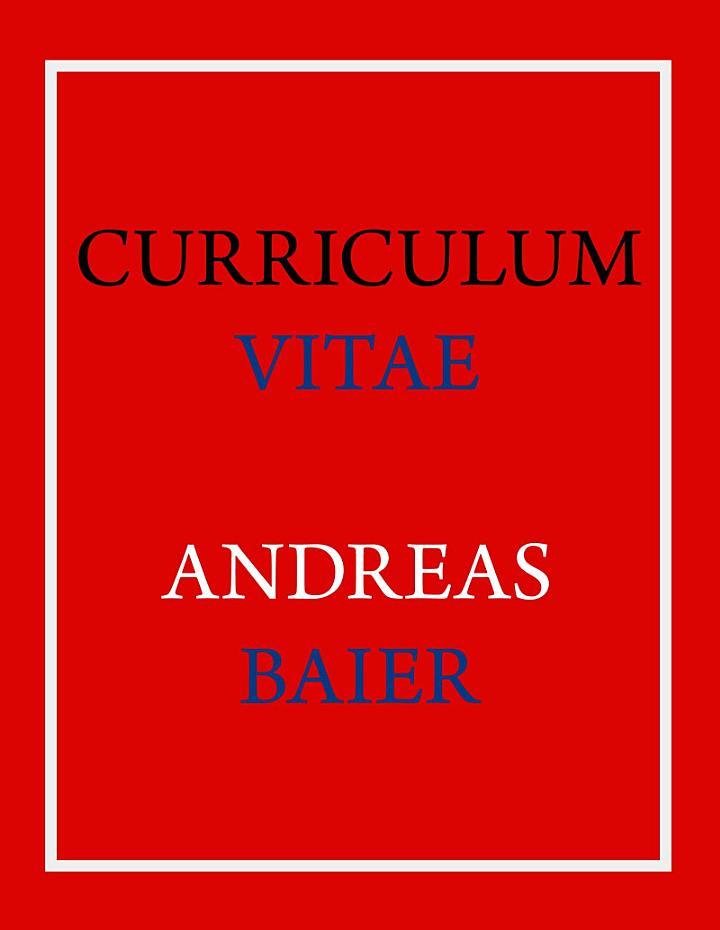 Curriculum Vitae – Andreas Baier