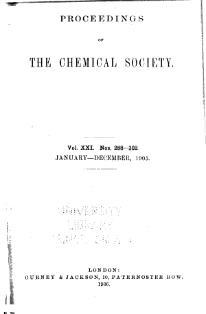 Proceedings of the Chemical Society