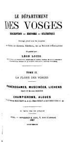 Le département de Vosges: description, histoire, statistique, Volume2