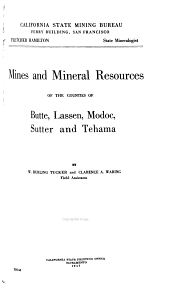Report of the State Mineralogist: Volume 16, Issues 1-6
