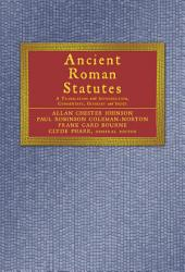 Ancient Roman Statutes: A Translation with Introduction, Commentary, Glossary, and Index