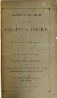 Catalogue of the Library of the Late Joseph J  Cooke PDF