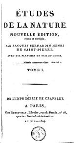Etudes de la nature: Volume 1