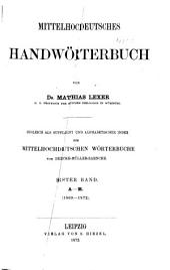 Mittelhochdeutsches handwörterbuch: bd. A-M
