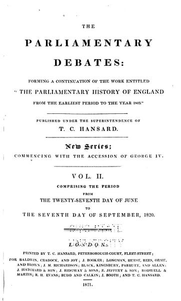 The Parliamentary Debates PDF