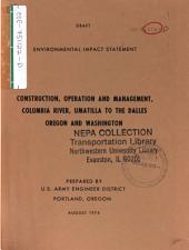 Columbia River, Umatilla to the Dalles (OR,WA): Environmental Impact Statement