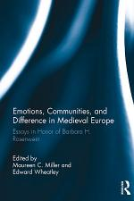 Emotions, Communities, and Difference in Medieval Europe