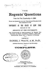 The Regents' Questions: From the First Examination in 1866