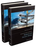 The Wiley Blackwell Handbook of Judgment and Decision Making PDF