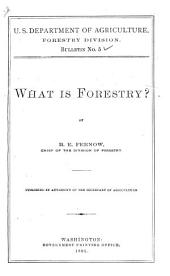 What is Forestry?