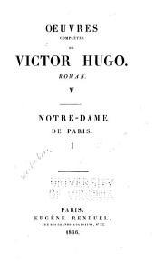 Œuvres de Victor Hugo: Volume3,Partie1