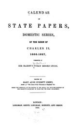 Calendar of State Papers, Domestic Series, of the Reign of Charles II: Volume 6