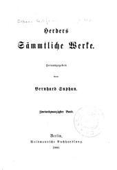 Herders sämmtliche Werke: Band 22