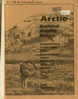 Arctic National Wildlife Refuge PDF