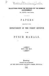 Papers Relative to the Improvement of the Forest Revenue of the Punch Mahals