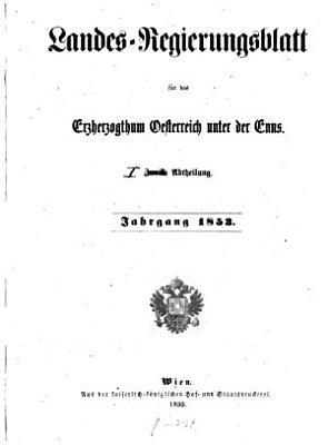 Landes Regierungsblatt f  r das Erzherzogthum Oesterreich unter der Enns PDF