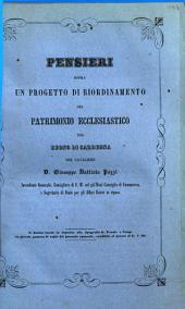 Pensieri sopra un progetto di riordinamento del patrimonio ecclesiastico nel regno di Sardegna