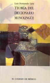 Teoría del diccionario monolingüe