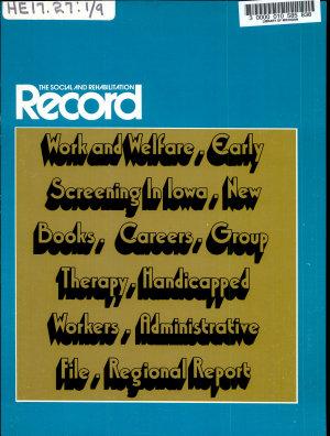 The Social and Rehabilitation Record PDF