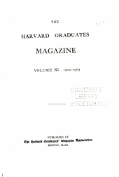 The Harvard Graduates' Magazine: Volume 11
