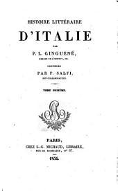 Histoire littéraire d'Italie. Tom.10-14, continuée par F. Salfi