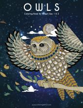 Owls Coloring Book for Grown-Ups 1 & 2
