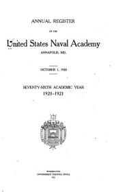 Annual Register of the United States Naval Academy, Annapolis, Md