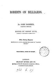 Roberts on billiards. Ed. by H. Buck