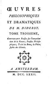 Œuvres philosophiques et dramatiques de M. Diderot