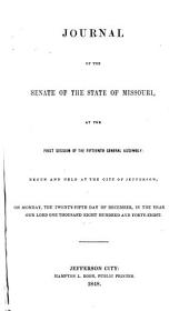 Journal of the Senate of the State of Missouri at the ... Session of the ... General Assembly