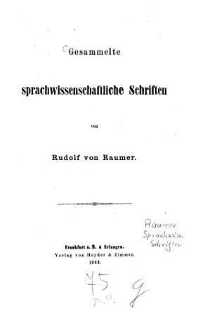 Gesammelte sprachwissenschaftliche Schriften PDF