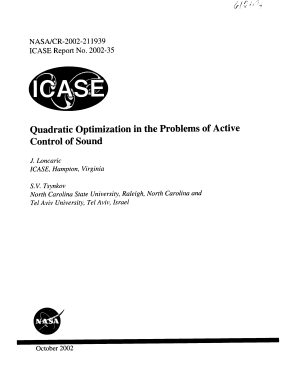 Quadratic optimization in the problems of active control of sound PDF