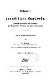 Geschichte der preussischen Landmehr historische ... von R. Bräuner: Band 2