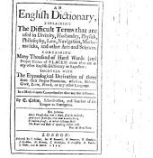 An English Dictionary, etc