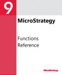 Functions Reference for MicroStrategy 9. 3. 1