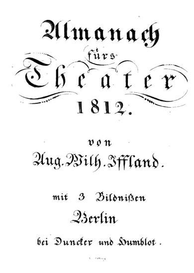 Almanach f  rs Theater PDF