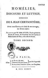 Homélies, discours et lettres choisies