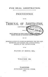 Fur Seal Arbitration: Volume 11
