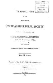 Transactions of the Wisconsin State Agricultural Society: Volume 11