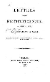 Lettres écrites d'Egypt et de Nubie: en 1828 et 1829