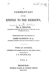 A Commentary on the Epistle to the Hebrews: Volumes 1-2