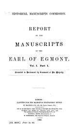 Report on the Manuscripts of the Earl of Egmont: Volume 1