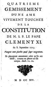 Quatrieme Gemissement D'une ame Vivement Touche'e de la Constitution