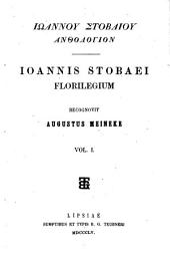 Iōannou Stobaiou anthologion