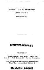 Subcontractor's Monograph on Saudi Arabia