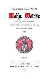 Confessio amantis of John Gower: Volume 2