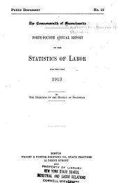Annual Report on the Statistics of Labor: Volume 44